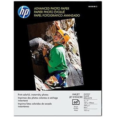 HP Inc. Q8690A Advanced Glossy Photo Paper - 5 x 7 in (60 sheets)