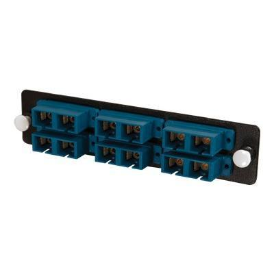 Cables To Go 31107 Q-Series Fiber Distribution System 12-STRAND  SC DUPLEX  ZIRCONIA INSERT  SM  BLUE SC - Patch panel adapter - black
