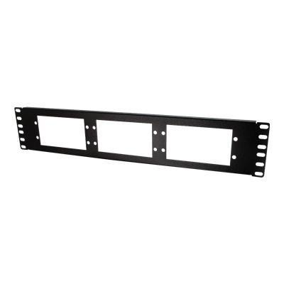 Cables To Go 39105 Q-Series Fiber Distribution System 6-PANEL RACK-MOUNT FIBER OPTIC PANEL - Patch panel work surface - black - 2U - 19
