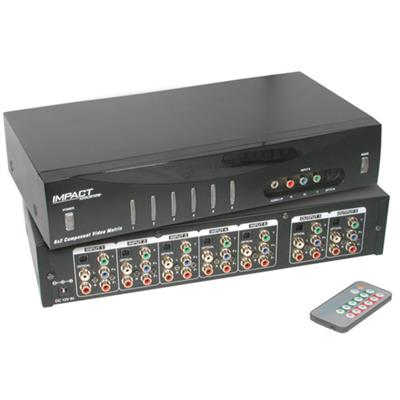 Cables To Go 40697 6x2 Component Video + Stereo Audio + TOSLINK Digital Audio Matrix Selector Switch - Video/audio switch - desktop