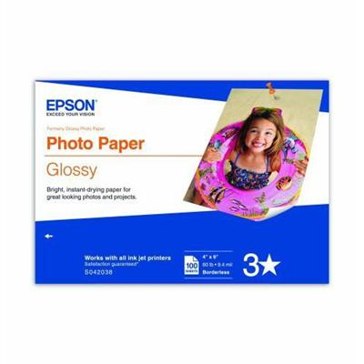 Epson S042038 4 x 6 inch Photo Paper Glossy - 100 Sheets