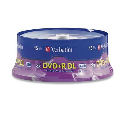 Verbatim 95484 DVD+R DL (Double Layer) 8.5GB 8X - 15 pack Spindle