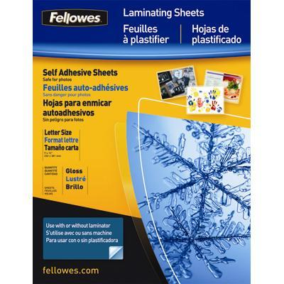 Fellowes 5221502 Self Adhesive Laminating Sheets  3mil  50 pack