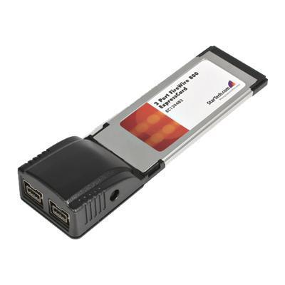 StarTech.com EC1394B2 2 Port ExpressCard 1394b FireWire Laptop Adapter Card - FireWire adapter - ExpressCard - FireWire 800 x 2