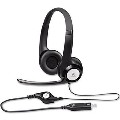 Logitech 981-000014 ClearChat Comfort/USB Headset H390 - Black