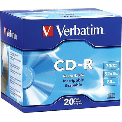 Verbatim 94936 20 x CD-R 700 MB ( 80min ) 52x - slim jewel case - storage media
