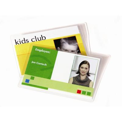 Fellowes 52016 Id Tag Punched - 100-pack - Glossy - Lamination Pouches