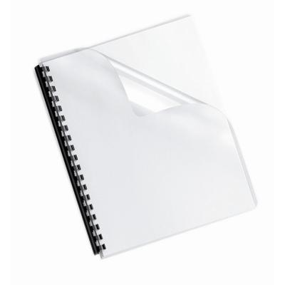 Fellowes 52089 Crystals Clear Binding Covers  Letter Size  100 Pack