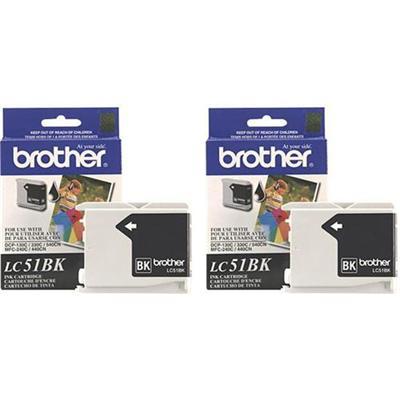 Brother LC512PKS Black Ink Cartridge - 2 Pack