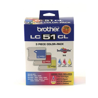Brother LC513PKS Cyan Magenta Yellow Ink Cartridge - 3 Pack