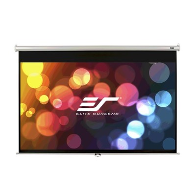 Elite Screens M85XWS1 85 Manual (1:1) Pull Down Projector Screen
