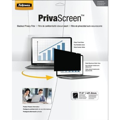 Fellowes 4801001 PrivaScreen Blackout Privacy Filter - 17.0 Wide