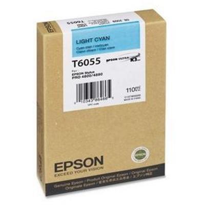 Epson T605500 T6055 - 110 ml - light cyan - original - ink cartridge - for Stylus Pro 4800  Pro 4880
