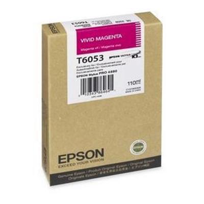 Epson T605300 T6053 - 110 ml - vivid magenta - original - ink cartridge - for Stylus Pro 4800  Pro 4880