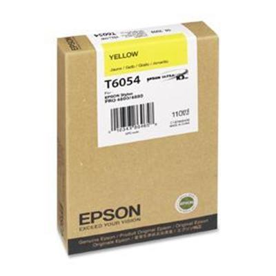 Epson T605400 T6054 - 110 ml - yellow - original - ink cartridge - for Stylus Pro 4800  Pro 4880