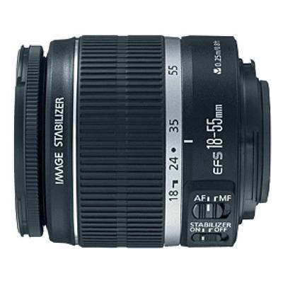 Canon 2042B002 EF - Zoom lens - 18 mm - 55 mm - f/3.5-5.6 IS -  EF-S - for EOS 1000  40  450  50  500  7D  Kiss F  Kiss X2  Kiss X3  Rebel T1i  Rebel XS  Rebel
