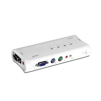 TRENDnet TK-408K TK 408K - KVM / audio switch - PS/2 - 4 x KVM / audio - 1 local user - desktop