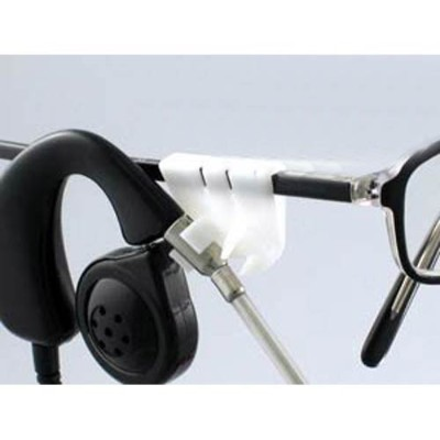 Plantronics 40700-01 Eyeglass clip kit - black  white