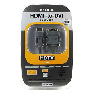 Belkin Am22402-12 Video Cable - Single Link - Hdmi / Dvi - 19 Pin Hdmi (m) - Dvi-d (m) - 12 Ft - Double Shielded