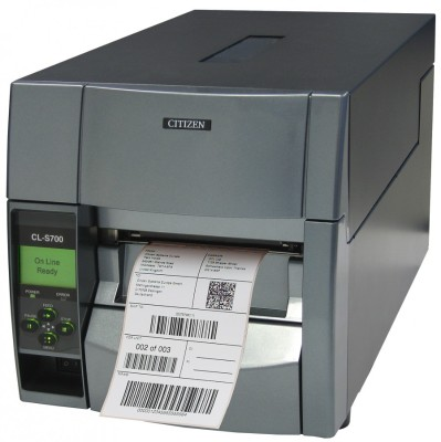 Citizen CL-S700 CL-S700 - Label printer - DT/TT - Roll (4.65 in) - 203 dpi - up to 600 inch/min - parallel  USB  serial