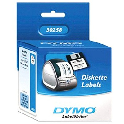 Dymo 30258 Diskette Labels - White  Permanent Adhesive 400 Rolls