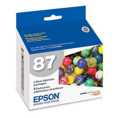 Epson T087020 4-Pack Gloss Optimizer Cartridge