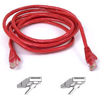 Belkin A3L980-50-RED-S 50 ft. High Performance Category 6 Snagless Patch Cable  Red