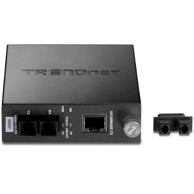 TRENDnet TFC-110MSC TFC-100MSC: 100Base-TX to 100Base-FX Multi-mode Fiber with SC Connector