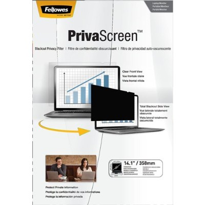 Fellowes 4800601 PrivaScreen Blackout Privacy Filter - 14.1 Wide