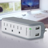 Belkin Dual USB Power Adapter (Charger) for iPod/iPhone with Mini Surge Protector