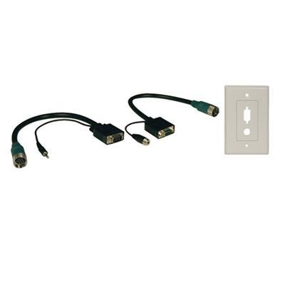 Tripplite Eza-vgaax-2 Easy Pull Type-a Connector Kit - Vga / Audio Cable Kit - 1 Ft