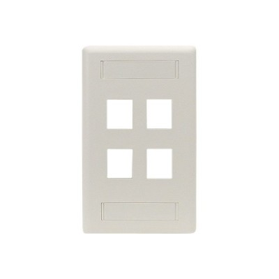 Black Box WP474 GigaStation - Wall plate - office white - 4 ports