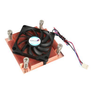 StarTech.com FAN7751U 1U Low Profile 70mm Socket 775 CPU Cooler Fan w/ Heatsink & TX3 - Processor cooler - ( LGA775 Socket ) - copper - 70 mm - black - 1U