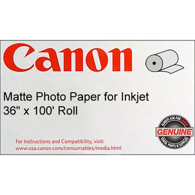 Canon 0849V350 36 x 100 Matte Photo Paper for Inkjet Roll