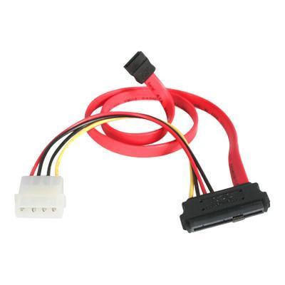 StarTech.com SAS729PW18 18in SAS 29 Pin to SATA Cable with LP4 Power - SATA / SAS cable - 4 pin internal power  29 pin internal SAS (SFF-8482) to 7 pin SATA (R)