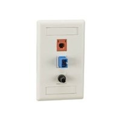 Black Box WP472 GigaStation - Wall plate - electric ivory - 4 ports