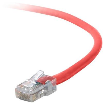 Belkin A3L791-25-RED Patch cable - RJ-45 (M) to RJ-45 (M) - 25 ft - UTP - CAT 5e - red - for Omniview SMB 1x16  SMB 1x8  OmniView SMB CAT5 KVM Switch