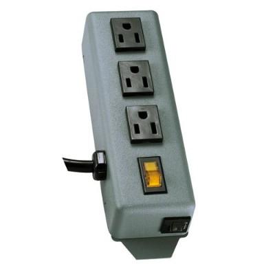 TrippLite 3SP Waber Power Strip Metal 5-15R 3 Outlet 5-15P 6' Cord - Power distribution strip - 15 A - AC 120 V - input: NEMA 5-15 - output connectors: 3 (NEMA