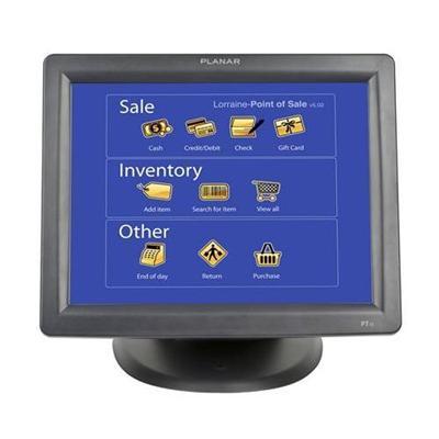 Planar 997-3981-00 PT1500MX - LCD monitor - 15 - touchscreen - 1024 x 768 - 200 cd/m² - 500:1 - 8 ms - VGA - speakers - black