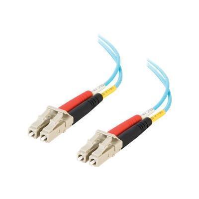 C2G 21611 20m LC-LC 10Gb 50/125 OM3 Duplex Multimode PVC Fiber Optic Cable (USA-Made) - Aqua - Patch cable - LC multi-mode (M) to LC multi-mode (M) - 66 ft - fi