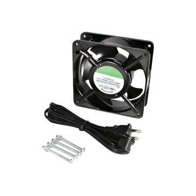 StarTech.com ACFANKIT12 12cm AC Fan Kit for Server Rack Cabinet - Rack Fan Kit (115 V)