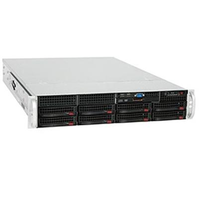 Super Micro CSE-825TQ-R700LPB Supermicro SC825 TQ-R700LPB - Rack-mountable - 2U - extended ATX - SATA/SAS - hot-swap 700 Watt - black