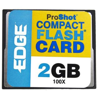 Limited Offer Edge Memory PE204389 ProShot 100X CF Memory Card – 2GB Before Too Late