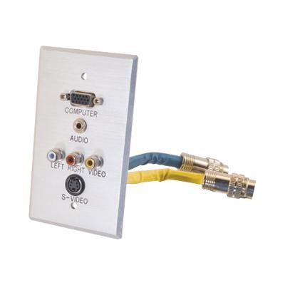 Cables To Go 42322 Rapidrun Integrated Wall Plate - Wall Plate - Vga / S-video / Composite Video / Audio