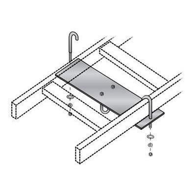 Black Box RM665-R2 Rack mounting plate - gray