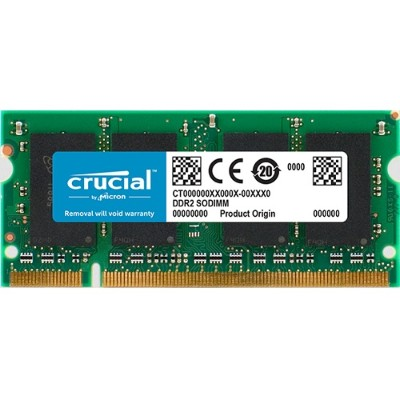 Crucial CT12864AC667 1GB PC2-5300 667MHz DDR2 200-pin SODIMM Memory Module