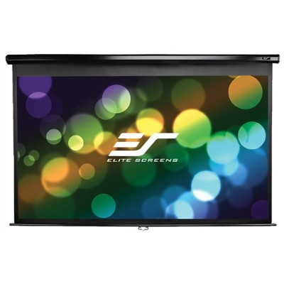 Elite Screens M120XWV2 120 Home/Commercial Manual Pull Down Projector Screen