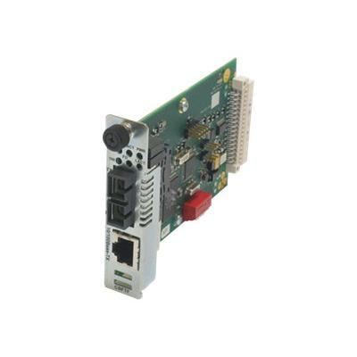 Transition CBFTF1013-105 Point System Slide-In-Module Media Converter - Fiber media converter - Ethernet Fast Ethernet - 10Base-T 100Base-FX 100Base-TX - RJ-
