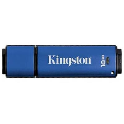 Kingston Digital Dtvp/16gb Datatraveler Vault - Privacy Edition (dtvp) 16gb Usb 2.0 Flash Drive   256-bit Aes Hardware-based Encryption And 100% Privacy