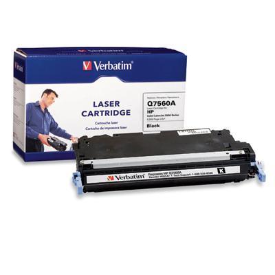 Verbatim 95547 HP Q7560A Black Remanufactured Laser Toner Cartridge